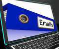 Mails File On Laptop Shows Online Correspondence