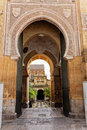 Main access to Cathedral Mosque Patio in Cordoba Royalty Free Stock Image