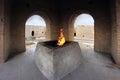 The main altar in the Ateshgah temple in Azerbaijan Royalty Free Stock Photo