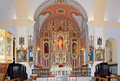 Main Altar of  the Church of Santiago, Arboleas Royalty Free Stock Image