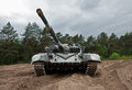 Main battle tank captured russian in the ukrainian army stock photo Royalty Free Stock Photo