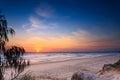 Main beach at sunrise queensland australia Royalty Free Stock Images