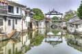 The main bridge of Tongli, China Stock Photo