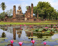 Main buddha Statue in Sukhothai historical park Stock Images