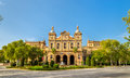 Main building of Plaza de Espana, an architecture complex in Seville - Spain Royalty Free Stock Photo