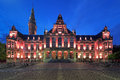 Main building of the University of Groningen at evening, Netherlands Royalty Free Stock Photo