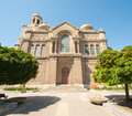 The main cathedral in varna in bulgaria training of cadets sailing school Stock Photography