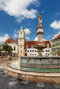 Main city square in old town in bratislava slovakia is the most populous and most visited Royalty Free Stock Photography