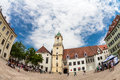 Main city square in old town in bratislava slovakia is the most populous and most visited Stock Image