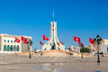 Main city square in tunis the capital of tunisia on the shore of afica Stock Photo