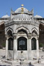 Main court fountain in yeni cami mosque istanbul turkey Stock Images