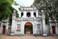 Main entrance gate to the temple of Literature Royalty Free Stock Photos