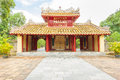Main entrance of minh mang grave in the imperial city of hue hien lam gate Stock Images