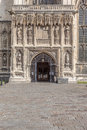 Main entrance to the Canterbury Cathedral, Kent, England Royalty Free Stock Images