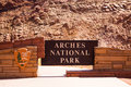 Main entrance to the famous arches national park moab utah usa july usa Stock Images
