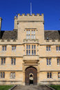 Main entrance to wadham college oxford university close up of the middle part of the front of looking from parks road through the Stock Photography
