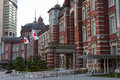 Main entrance of tokyo s tokyo station in the marunouchi business district chiyoda near the imperial palace grounds and the Stock Photography