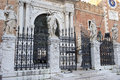 Main entrance in Venetian Arsenal, Venice, Italy Royalty Free Stock Photo