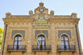 Main façade of the Old Slaughterhouse in Seville, Spain Royalty Free Stock Photo