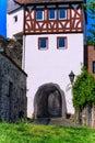Main gate of the city wall at the banks of the main in hanau steinheim germany hesse rhine region Stock Photos