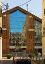 Main gate at clot market in barcelona spain july spain Stock Photo