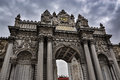 Main gate of the Dolmabahce Palace on a cloudy day Royalty Free Stock Photo