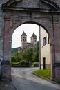The main gate to Murbach abbey in France Stock Photos