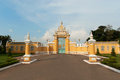 Main gate to royal palace in phnom penh cambodia Royalty Free Stock Photography
