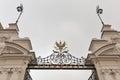 Main Gate of Warsaw University closeup, Poland
