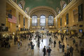 Main hall grand central terminal new york people rushing through the of Stock Photo