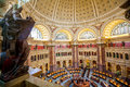 Main Hall of the Library of Congress ceiling DC Royalty Free Stock Photo