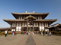 Main Hall of Todaiji Temple in Nara, Japan Royalty Free Stock Photos