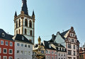 Main market square trier city germany Royalty Free Stock Photos