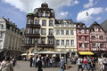 Main market in Trier Germany Royalty Free Stock Images
