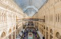 Main moscow department store may interior of the universal gum on may in gosudarstvenny universalny magazin gum lit state Stock Photo