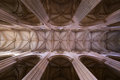 The main nave of the Batalha monastery, Portugal Royalty Free Stock Photo