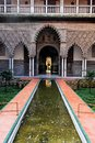 Main Patio in Real Alcazar in Seville, Spain Stock Photography