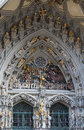 Main portal of Bern cathedral Royalty Free Stock Photo