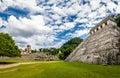 Main pyramid and Palace at mayan ruins of Palenque - Chiapas, Mexico Royalty Free Stock Photo