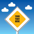 Main road sign on the sky Royalty Free Stock Photo