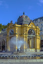 Main spa colonnade in marianske lazne view with singing fountain czech republic Royalty Free Stock Photos