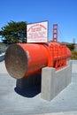 Main span size of Golden Gate Bridge Royalty Free Stock Photo