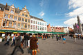 The Main Square of Bruges, Belgium Stock Photography