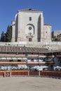 Main square of Chinchon converted into bullring, Spain