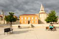 Main square and Church of St. Donat. Zadar. Croatia Royalty Free Stock Photo