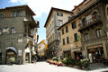 Main square in cortona italy of the medieval old town of tuscany Stock Photography