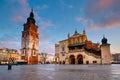 Main square in Krakow. Royalty Free Stock Photo