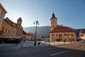 The main square of the medieval city of Brasov,Romania