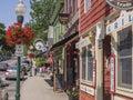 Main street in Camden, Maine, USA Royalty Free Stock Photo