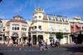 Main Street USA, Magic Kingdom, Walt Disney World. Royalty Free Stock Photo